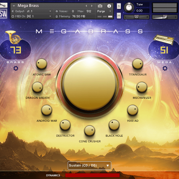 impact soundworks mega brass interface