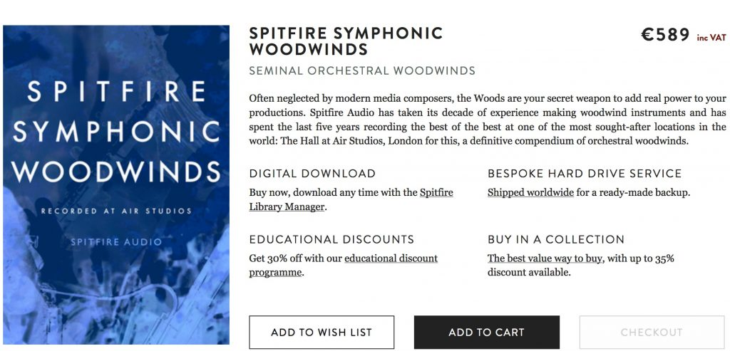 spitfire audio symphonic woodwinds shop