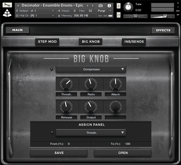 decimator drums big knob