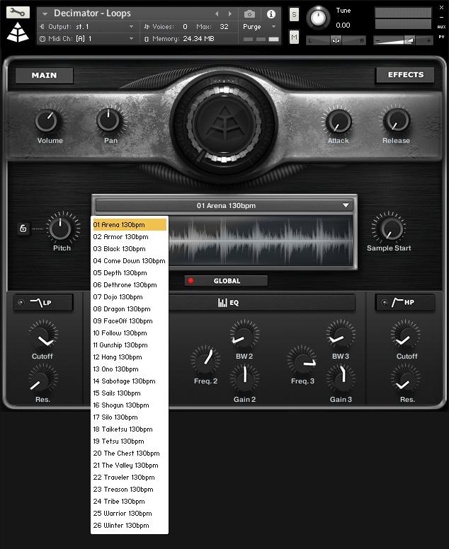 decimator drums loops