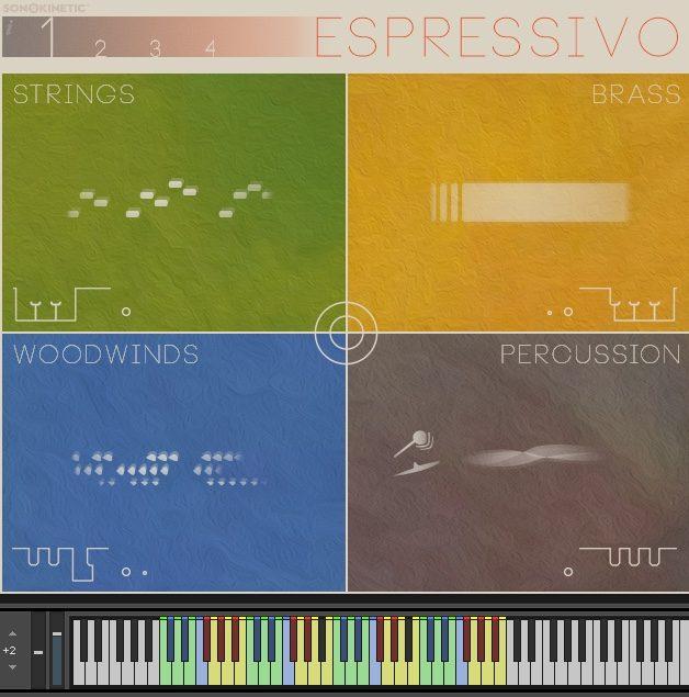 main interface GUI of Sonokinetic Espressivo