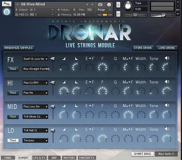 expert view of gothic instruments dronar live strings