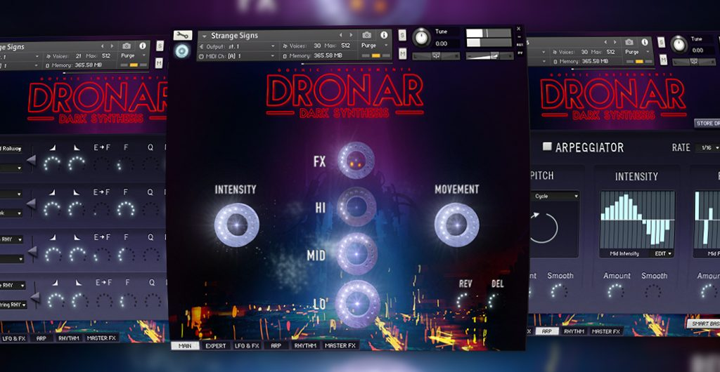 gothic instruments dronar dark synthesis sample library