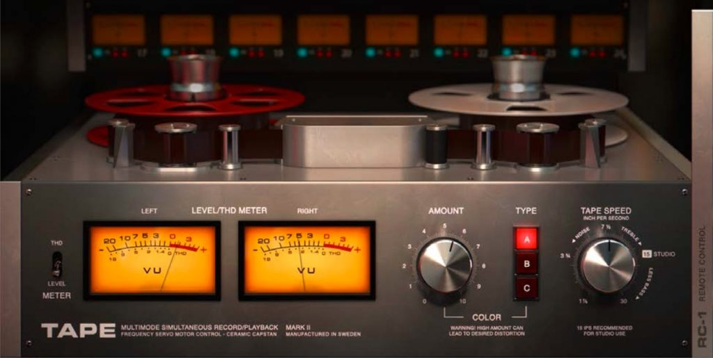 softube tape plugin interface