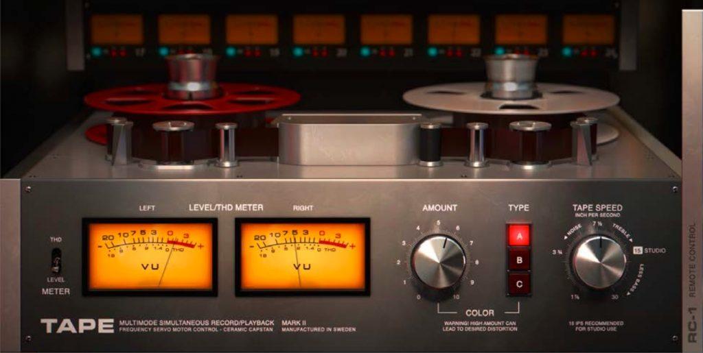 softube tape plugin interface