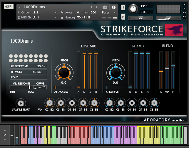 laboratory audio strikeforce interface