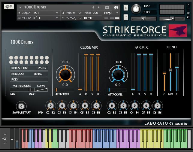 laboratory audio strikeforce interface