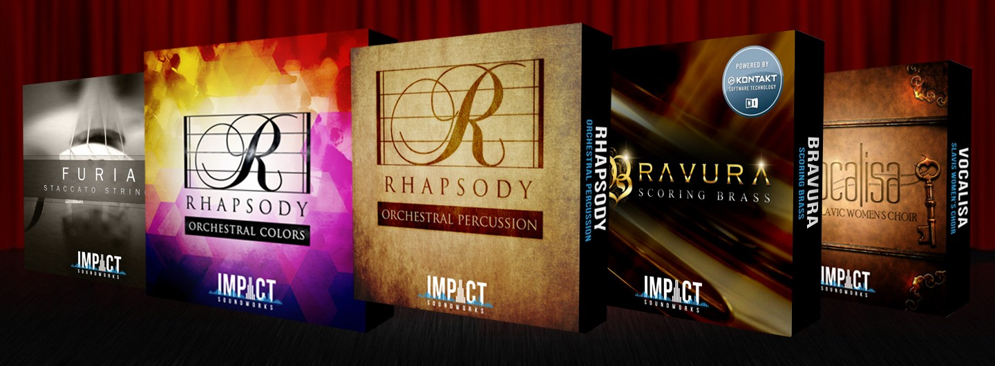 impact soundworks orchestral bundle furia staccato strings rhapsody percussion colors vocalisa bravura scoring brass