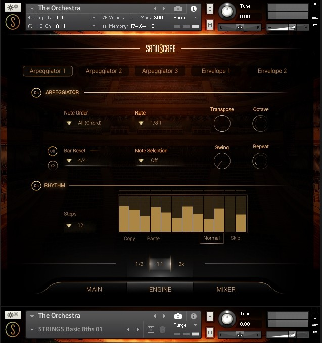 sonuscore the orchestra arpeggiator envelopes