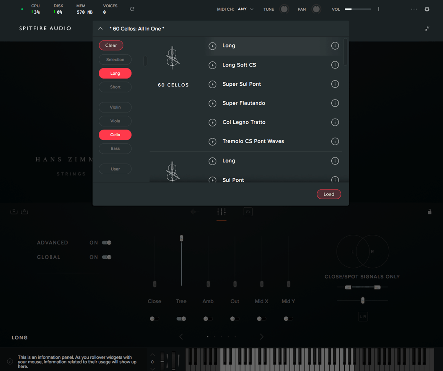 spitfire audio hans zimmer strings interface patch browser