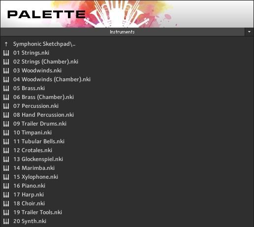 red room audio palette folder structure