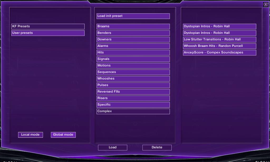 keepforest aizer x modern designer toolkit preset menu