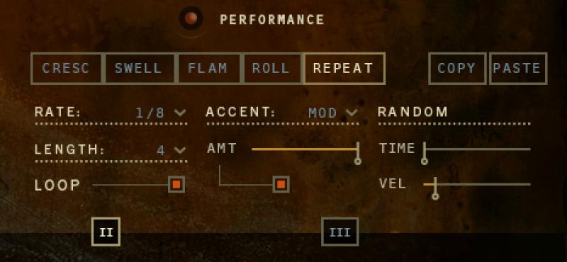 Ensemble Designer - Performance control