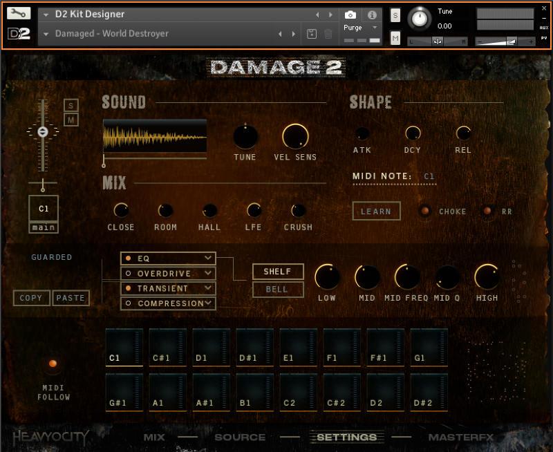 Damage 2 - Kit Designer