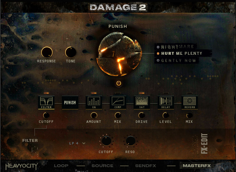 Damage 2 - Master FX page