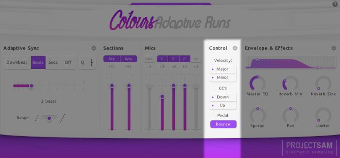Adaptive Runs project sam interface control