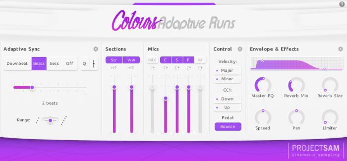 Adaptive Runs project sam interface
